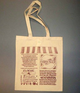 Fishmonger florist printed bag