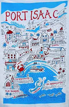 Port Isaac Tea Towel