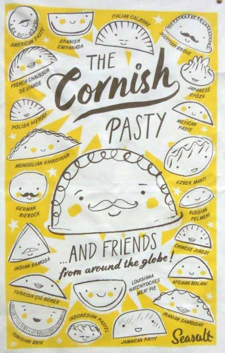 Cornish tea towel