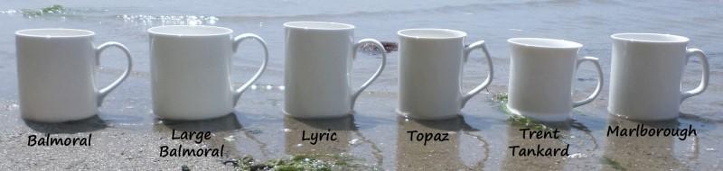 Printed china mugs